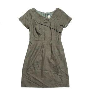 J Crew Origami Wool Blend Green Dress Size 2